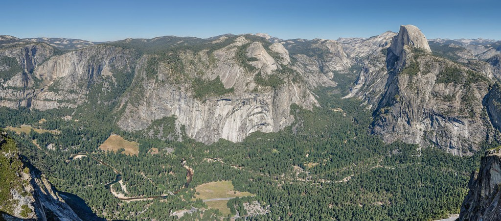 """Panoramic Overview from Glacier Point over Yosemite Valley 2013 Alternative"" by Tuxyso - Own work. Licensed under Creative Commons Attribution-Share Alike 3.0 via Wikimedia Commons - http://commons.wikimedia.org/wiki/File:Panoramic_Overview_from_Glacier_Point_over_Yosemite_Valley_2013_Alternative.jpg#mediaviewer/File:Panoramic_Overview_from_Glacier_Point_over_Yosemite_Valley_2013_Alternative.jpg"
